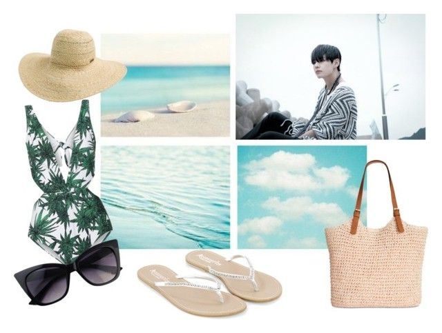 """beach date with Taehyung"" by mariacristina-iii ❤ liked on Polyvore featuring Mara Hoffman, Monsoon, Rip Curl and Straw Studios"