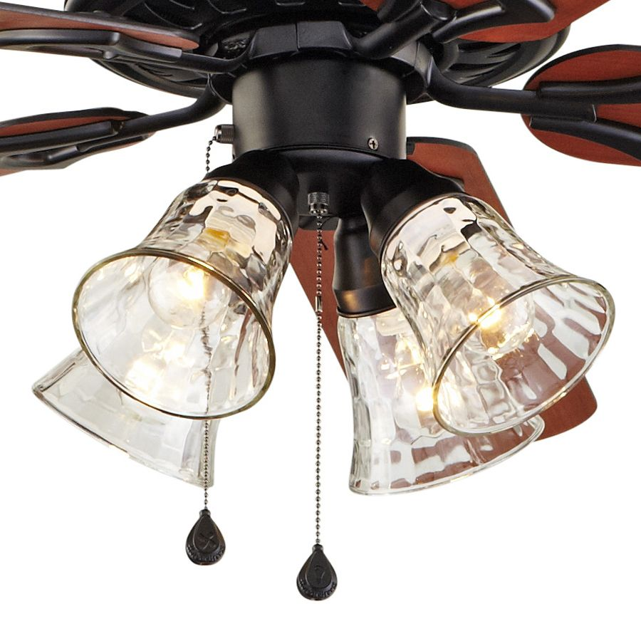 Harbor Breeze Springfield Ii 52 In Matte Black Indoor Downrod Or Flush Mount Ceiling Fan With Light Kit At Lowes