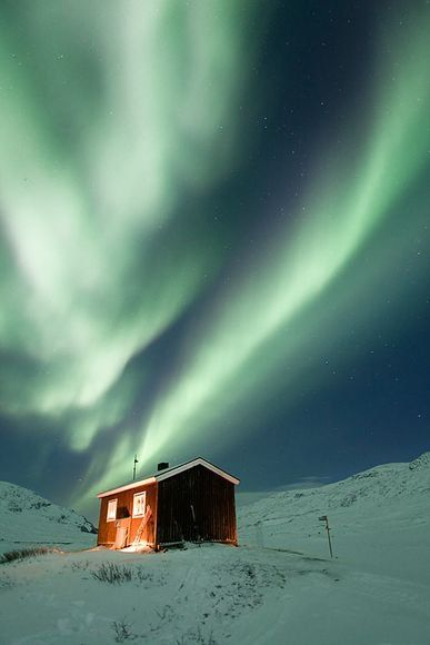 Northern lights in northern Sweden