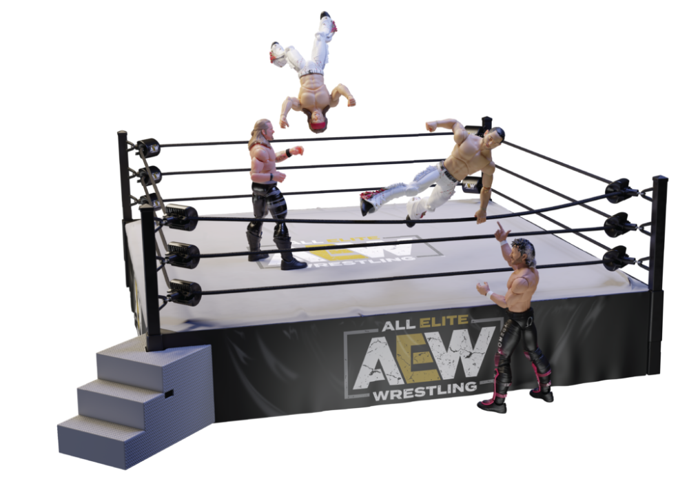 Aew Collectors Ring Actionshot 01 1 Jazwares Announces Aew Action Figure Line Ahead Of Toy Fair 2020 Action Figures Elite Cool Toys