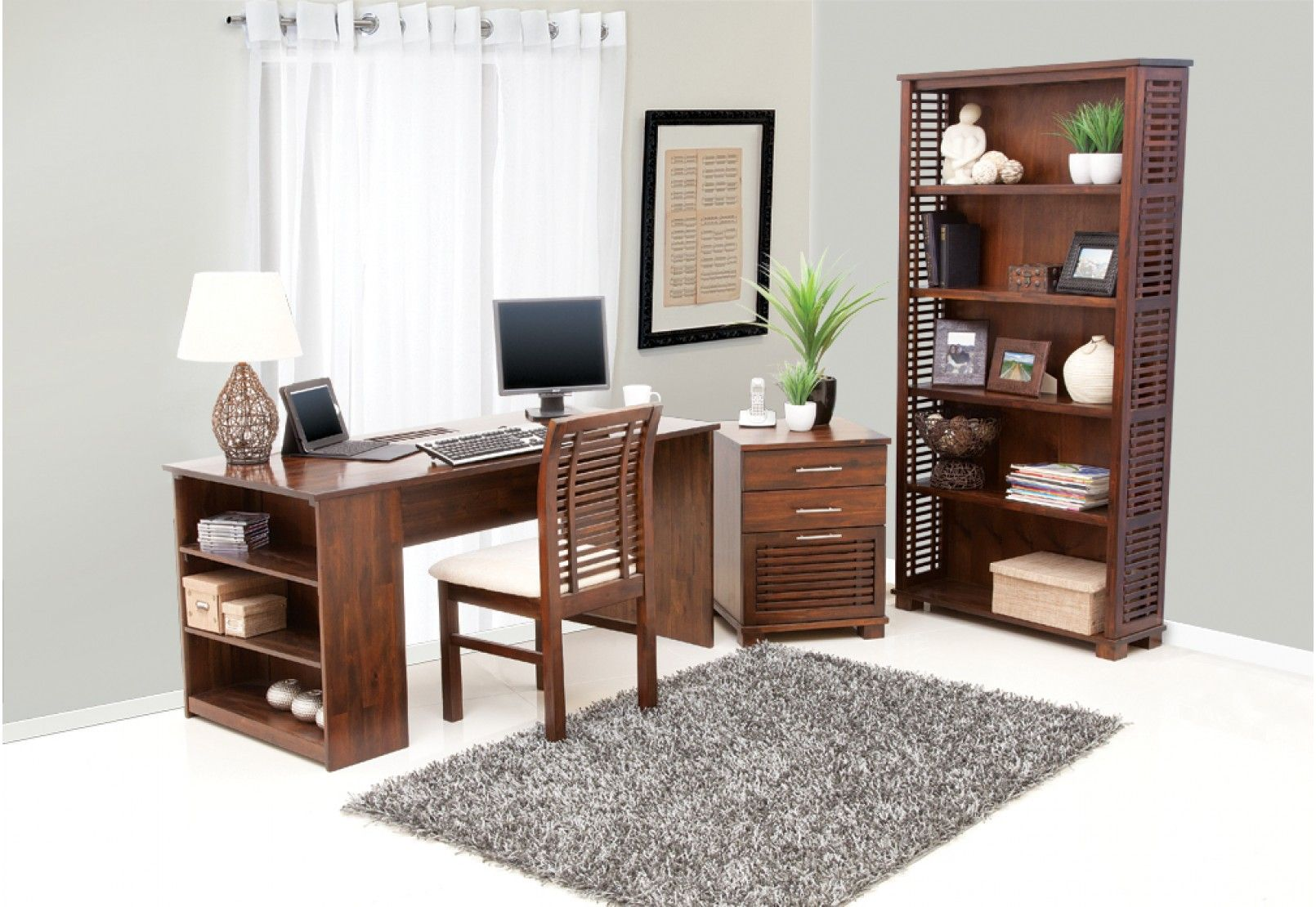 Bring A Touch Of Asia And More Storage Than You Could Dream Of To Your  Office With The Stunning Madang 3 Piece Package Deal. Featuring The Madang  Desk, ...