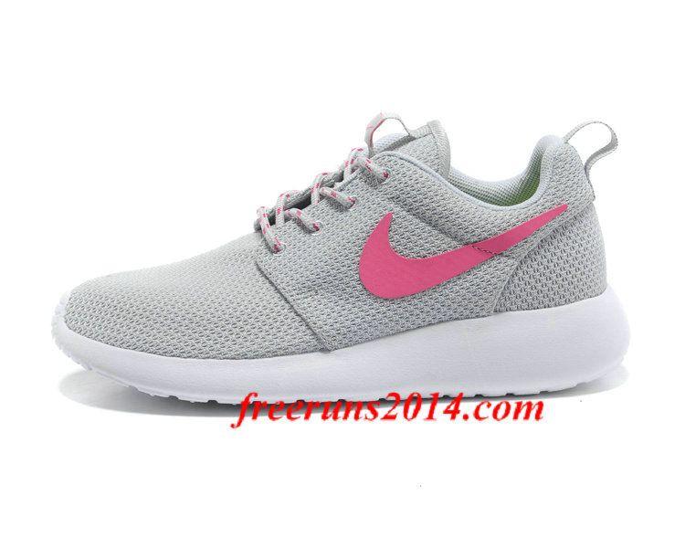 Womens Nike Roshe #Run Light Gray Pink Shoes  #free #women