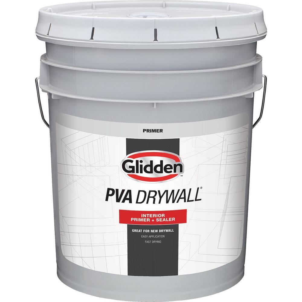 Glidden Pva 5 Gal Drywall Interior Primer Gpd 0000 05 The Home Depot In 2020 Interior Primer Glidden Interior