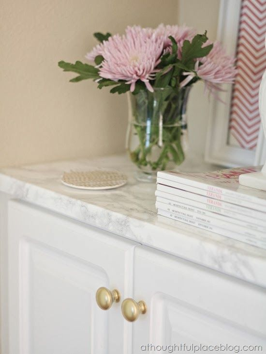 Faux Marble Countertops: Easy Transformation - A Thoughtful Place