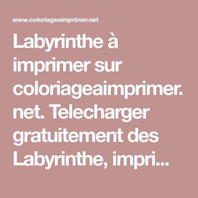 Labyrinthe à imprimer sur coloriageaimprimer.net. Telecharger gratuitement des Labyrinthe ...