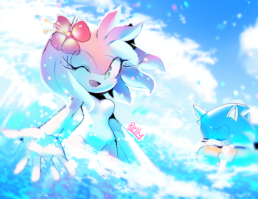 Beach By Rellyia On Deviantart Shadow And Amy Amy The Hedgehog Amy Rose