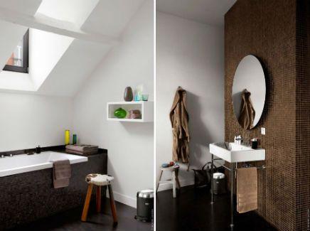 Bruin en wit. (Badkamer | Inrichting-huis.com) | badkamer | Pinterest