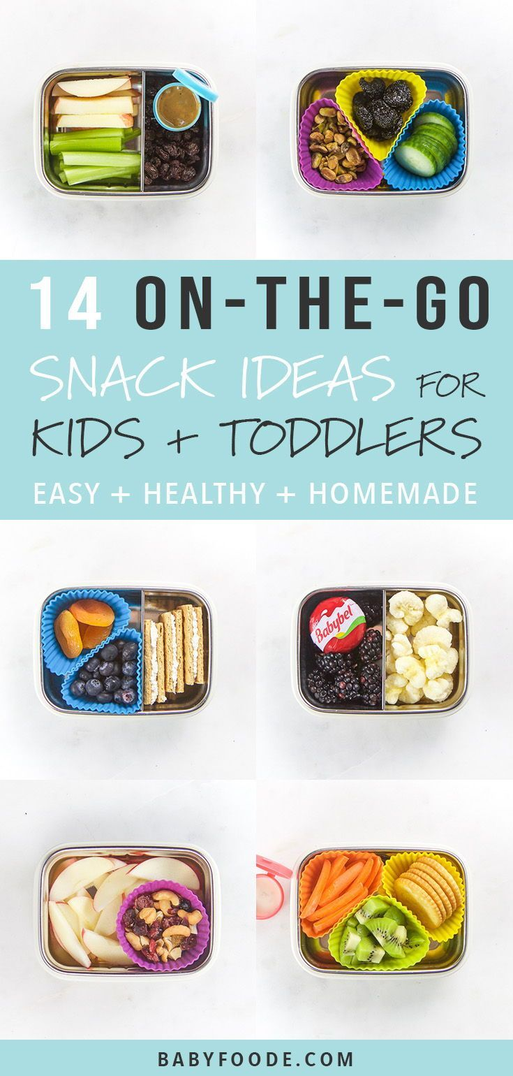 14 On-The-Go Healthy Snacks for Kids + Toddlers images