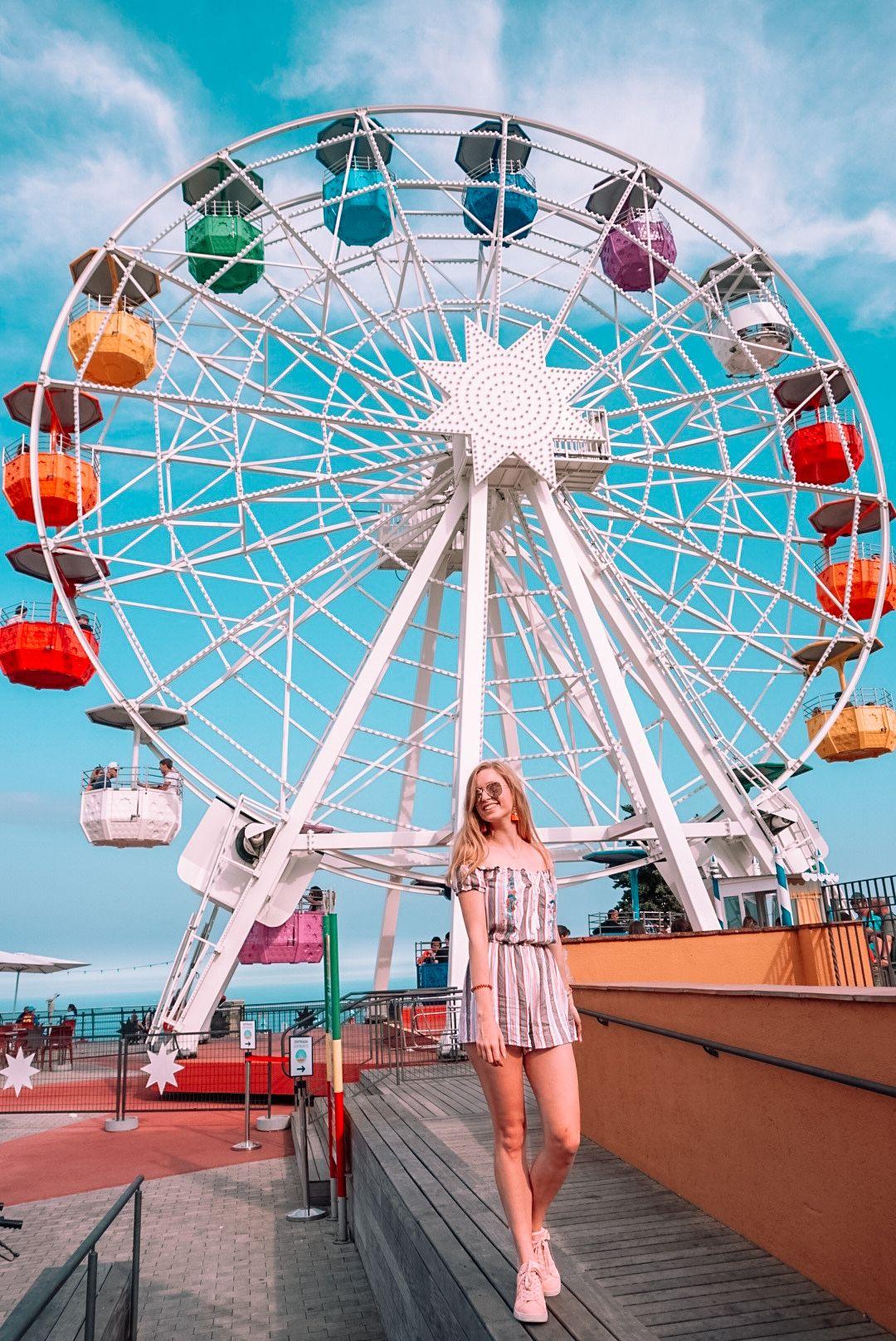 Parc D Atraccions Tibidabo Barcelona Spain Tibidabo Barcelona Amusement Park Photoshoot Aesthetic Amusement Park