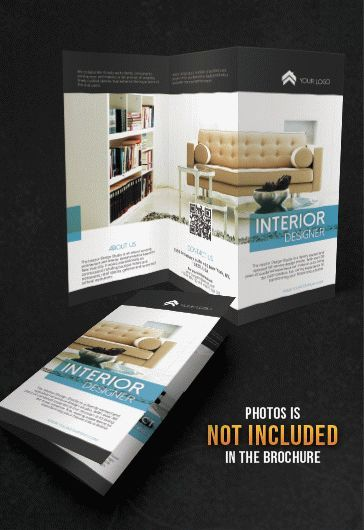 Free Interior Designer TriFold Brochure PHS Pinterest Tri - Tri fold brochure template psd
