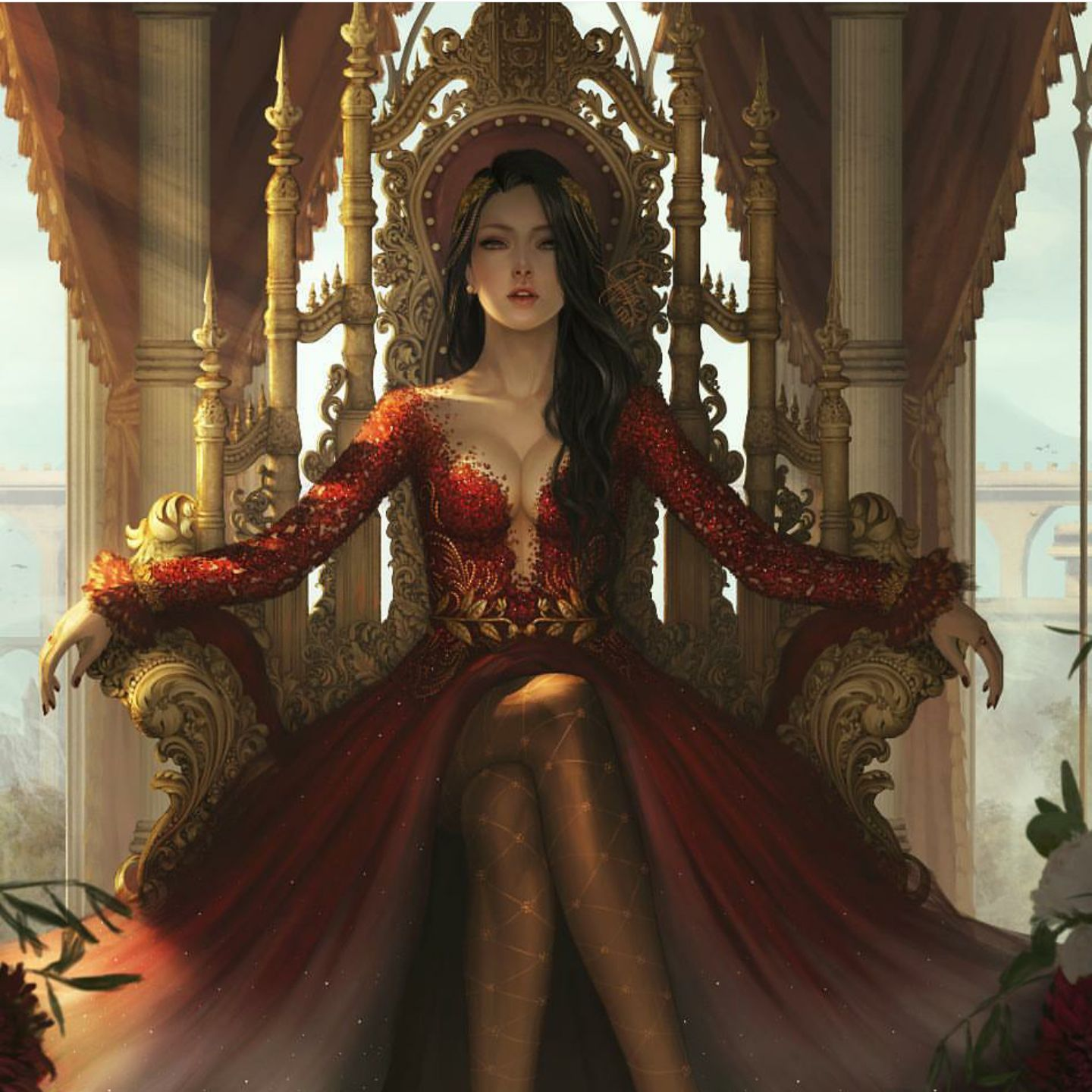 Arte Manga Here Onyx On Her Throne Zeichnungen Pinterest Dessin
