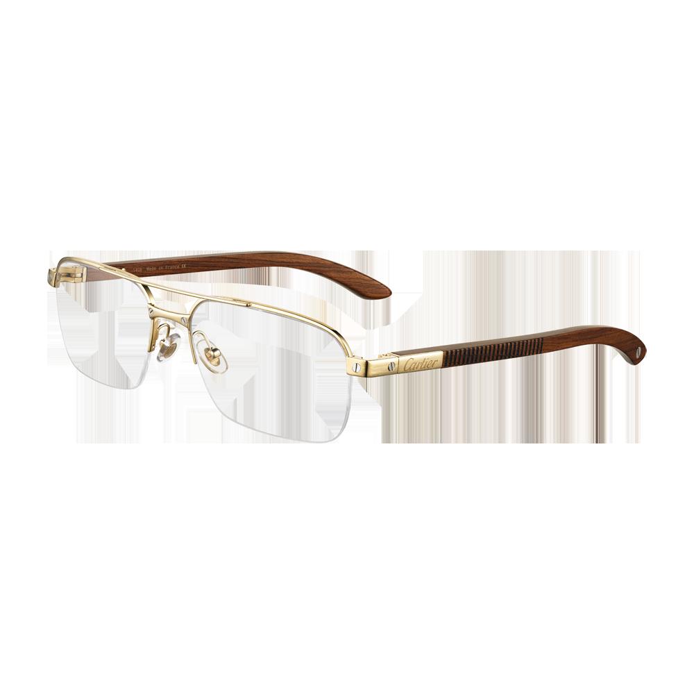 Lunettes Cartier   bois, titane plaqué or   lunette en 2019 79ec0d388587