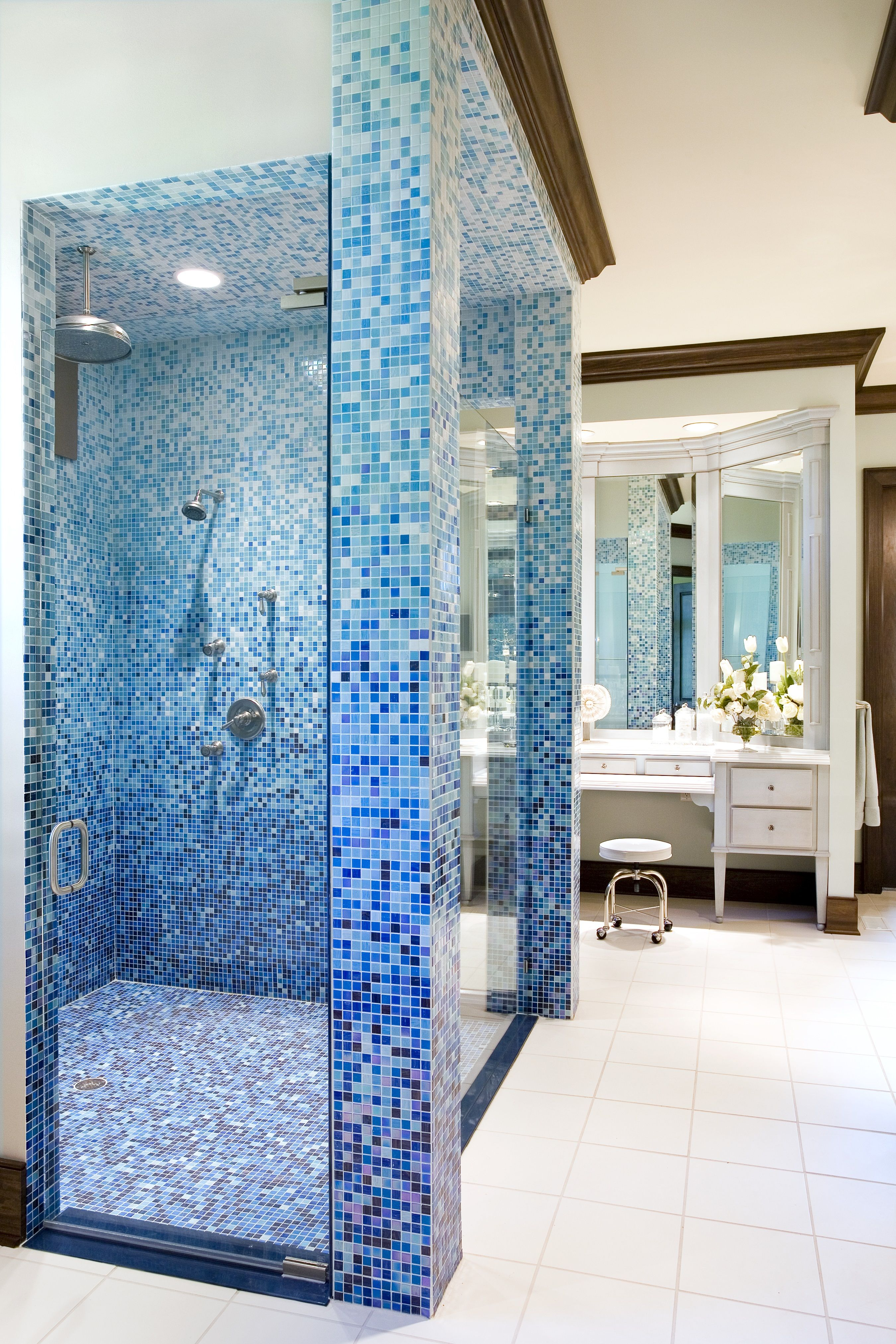 Bathroom, creative tile pattern - Designers: Kristin Okeley, ASID ...
