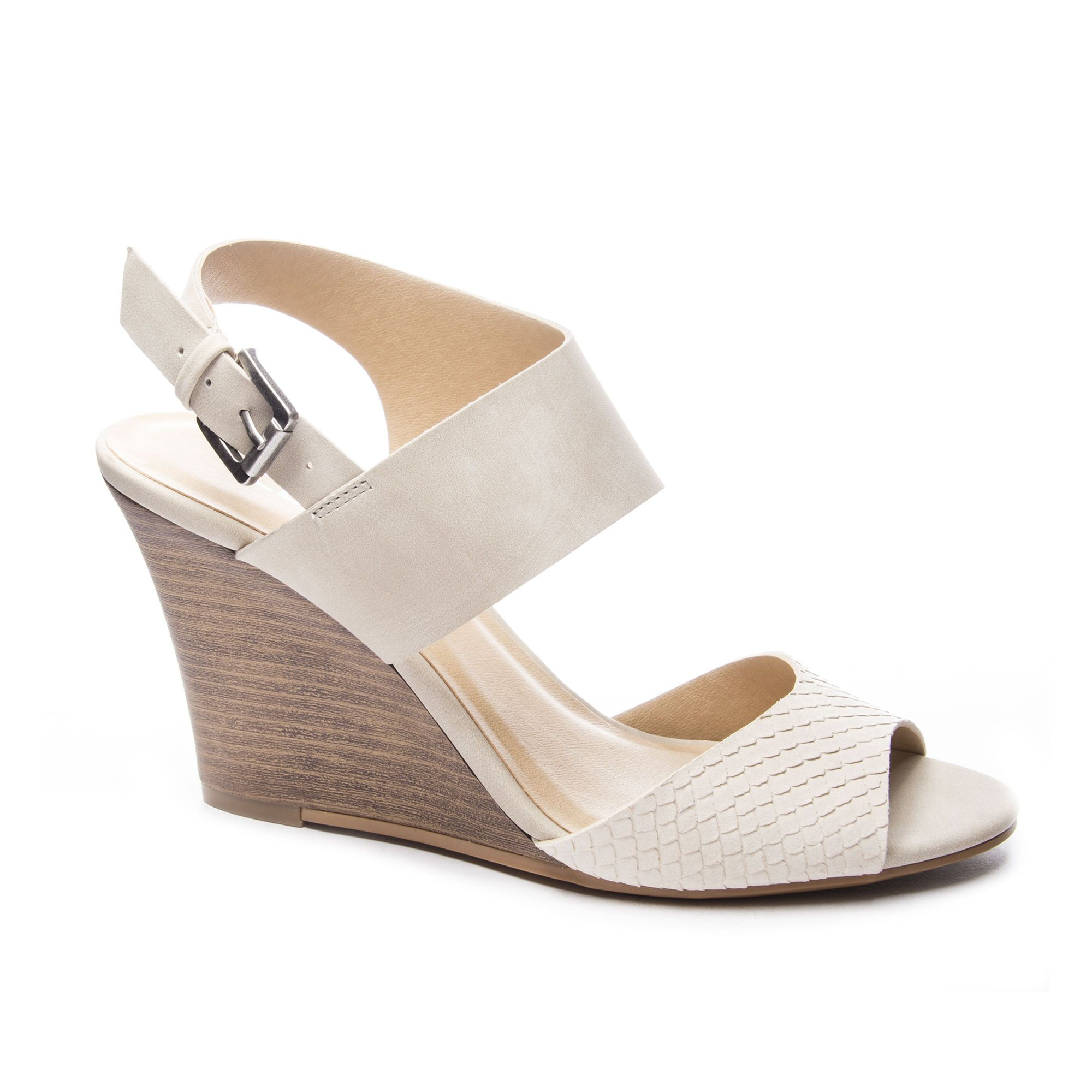 Cl By Laundry Brinn Snake Nubuck Wedge Sandal Chinese Laundry