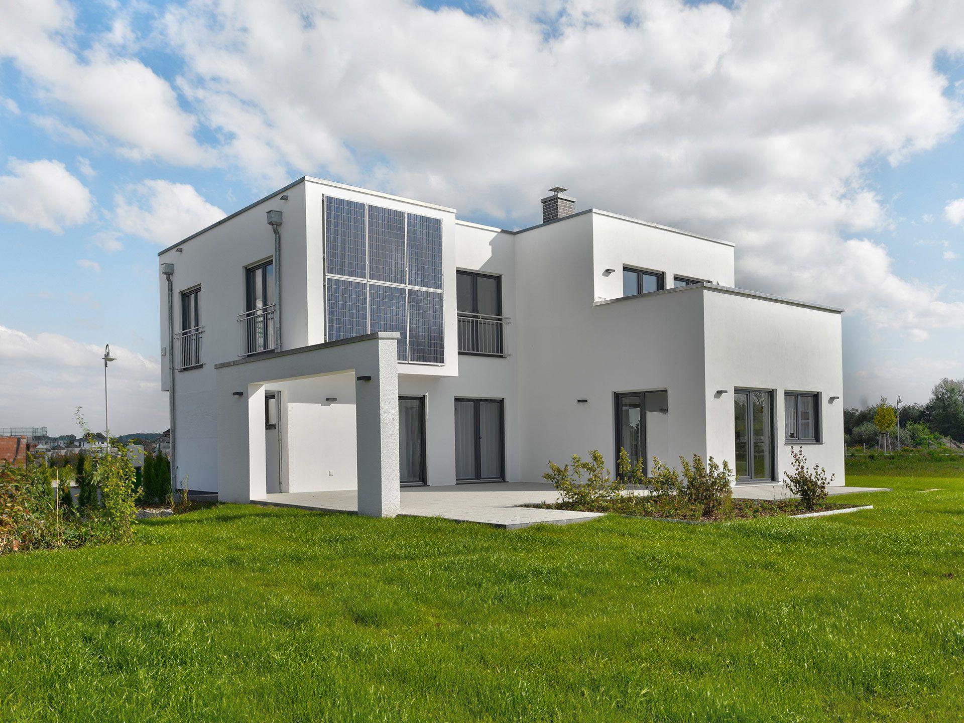 Musterhaus modern flachdach  Energiesparhaus mit Flachdach - Musterhaus Fine Arts 198 ...