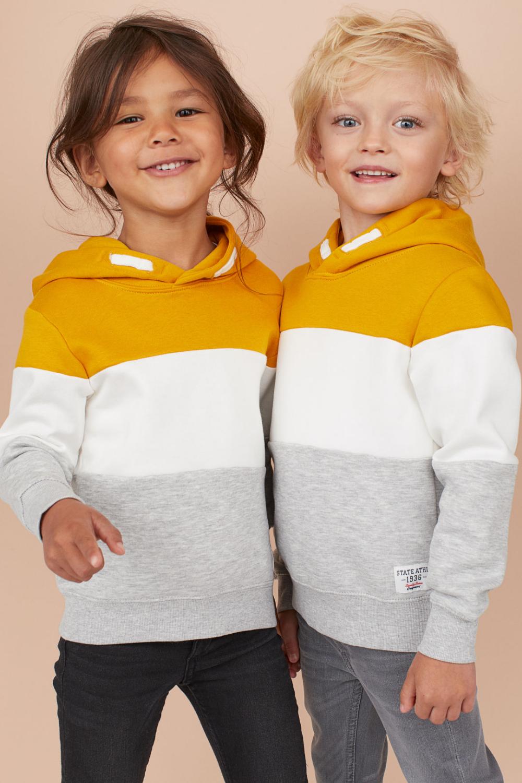 Hoodie Mustard Yellow White Gray Mel Kids H M Us Grey Baby Clothes Kids Fashion Fall Girls Clothes Shops [ 1500 x 1000 Pixel ]