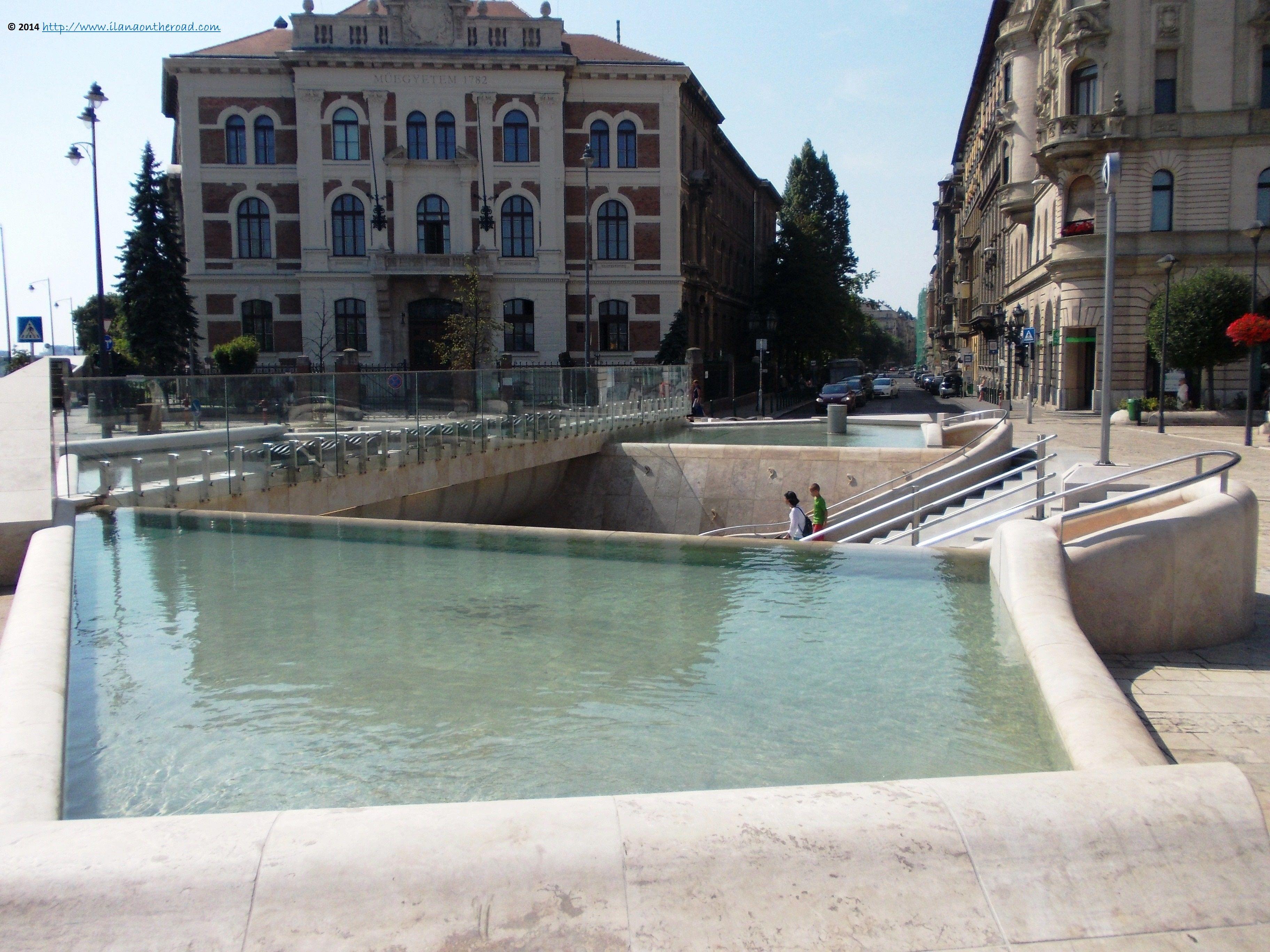 In the front of Gellert baths