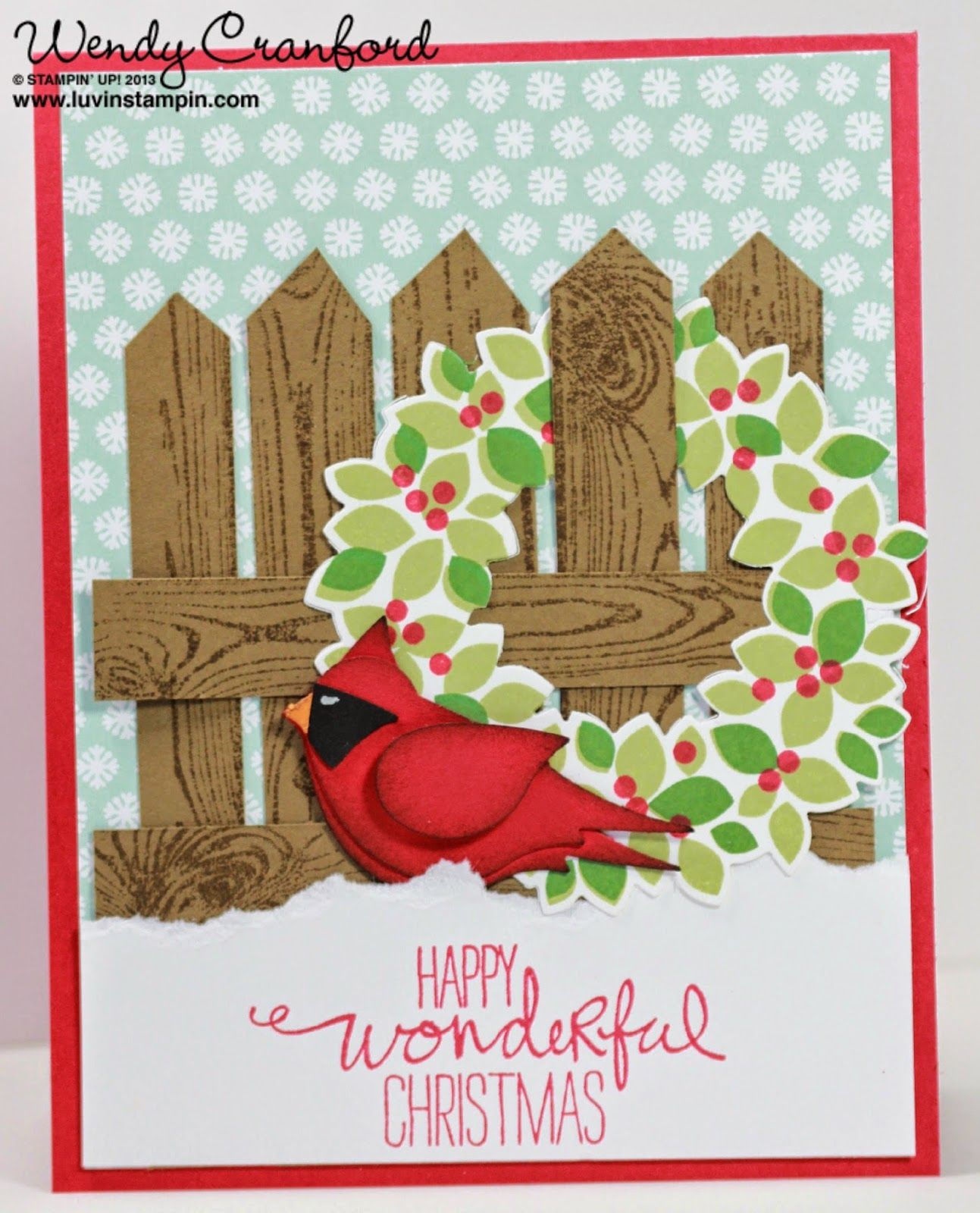 Luvin Stampin Merry Christmas Freebie Friday 46 Christmas Card
