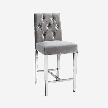 Uptown Club Maximus Collection Steel Legs Counter Chair Grey