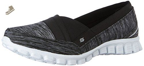 Skechers Sport Women's Fascination Fashion Sneaker, Black ...