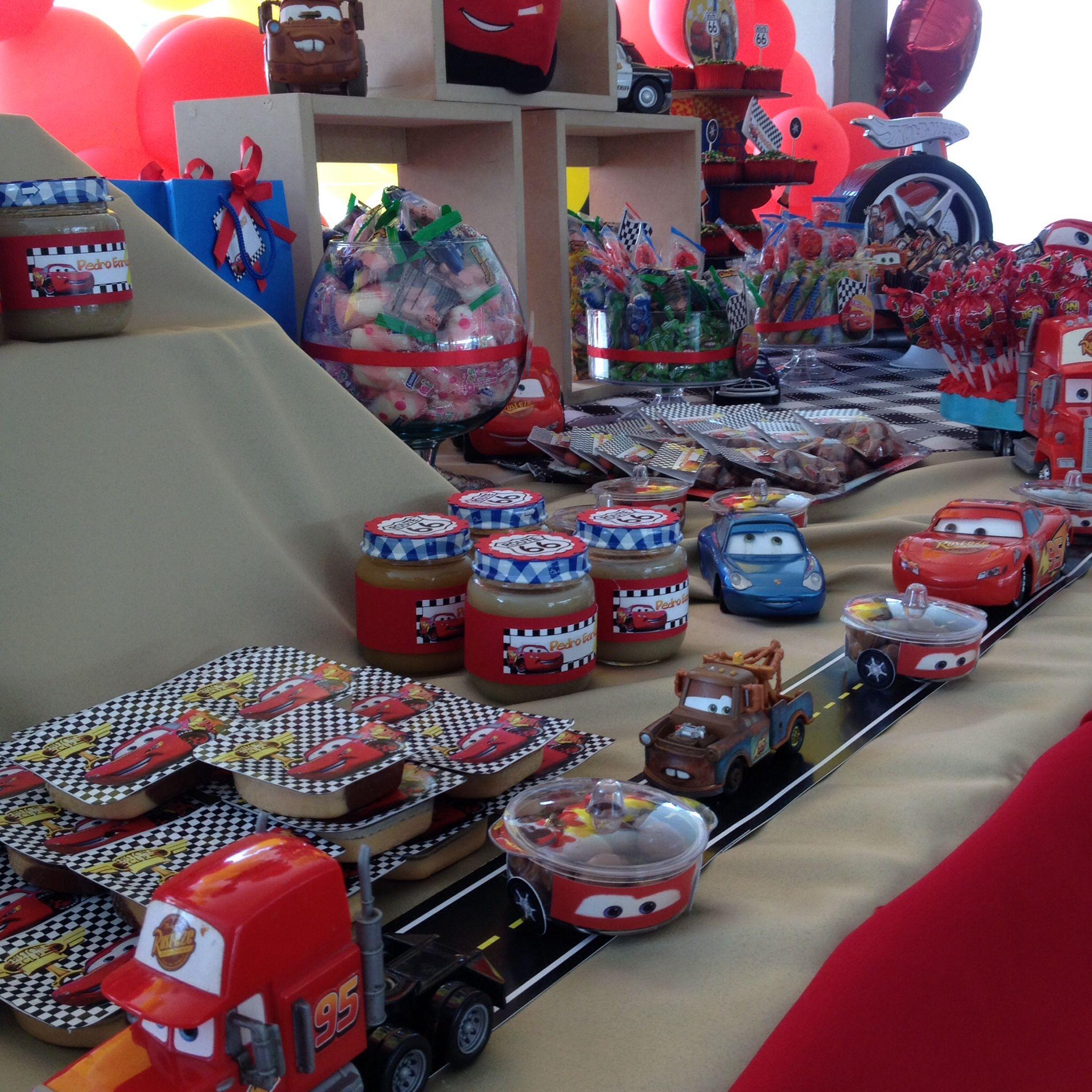 Fiesta de cars mis decoraciones en decopartyc in 2019 - Decoracion de fiestas de cumpleanos infantiles ...