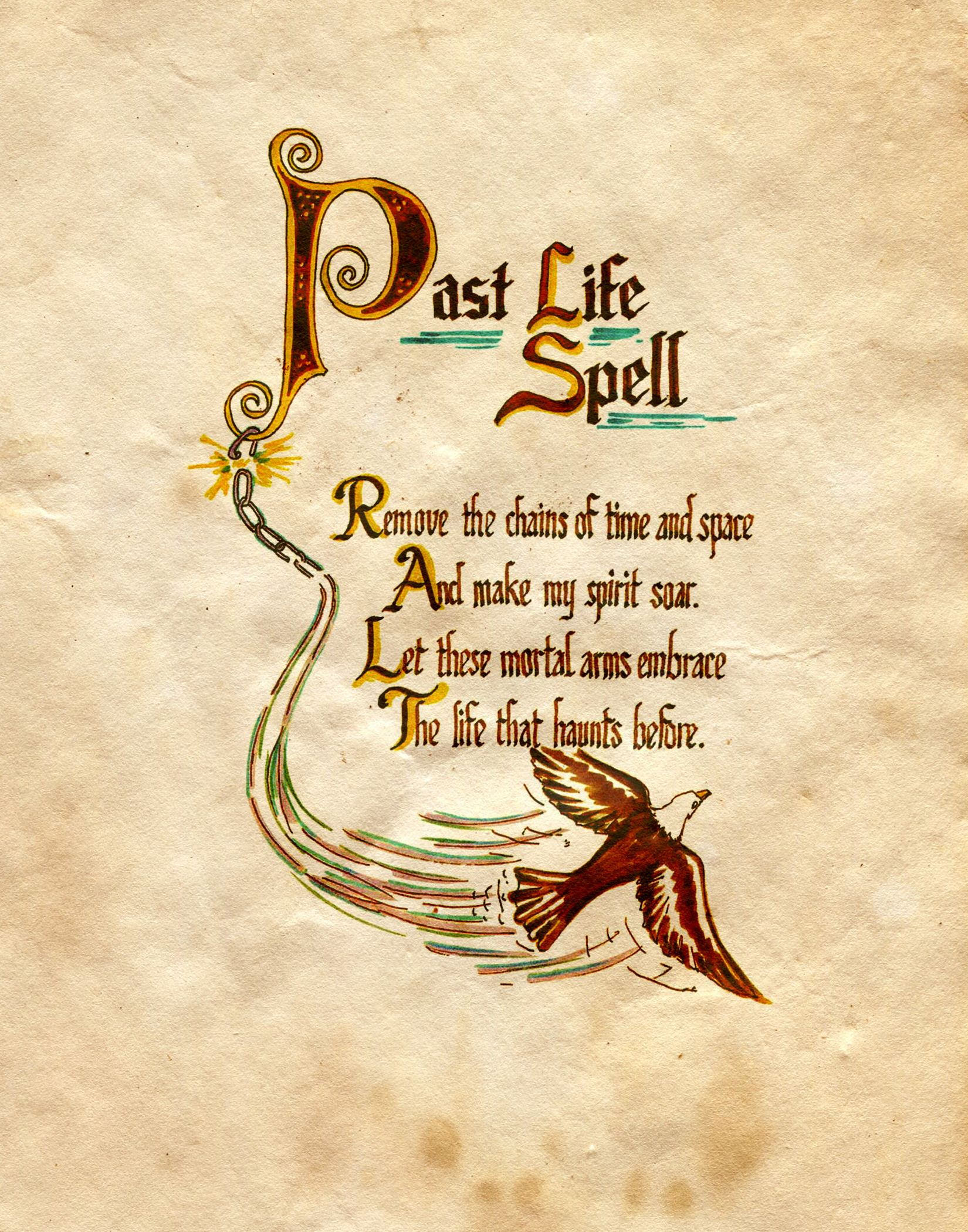 Past Life Spell Charmed Book Of Shadows In 2020 Charmed Book Of Shadows Spell Book Wiccan Spell Book