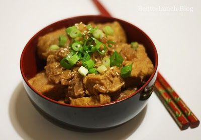 Bento Lunch Blog: Rezept: Erdnuss-Sesam-Tofu mit Frühlingszwiebeln, würzig-scharf