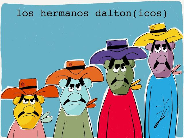 Los Hermanos Dalton Icos Hermanas Humor Vinetas