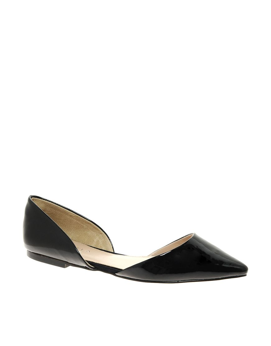 pointed flat shoes / asos