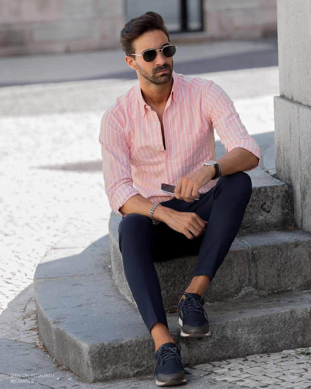 Männer sportlich-elegantes outfit Kleidungsstil Männer