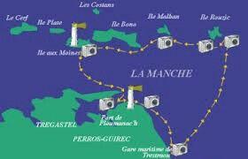Boottocht naar les sept îles en de côte granit rose. Een tussenstop werd gemaakt bij île aux Moines.