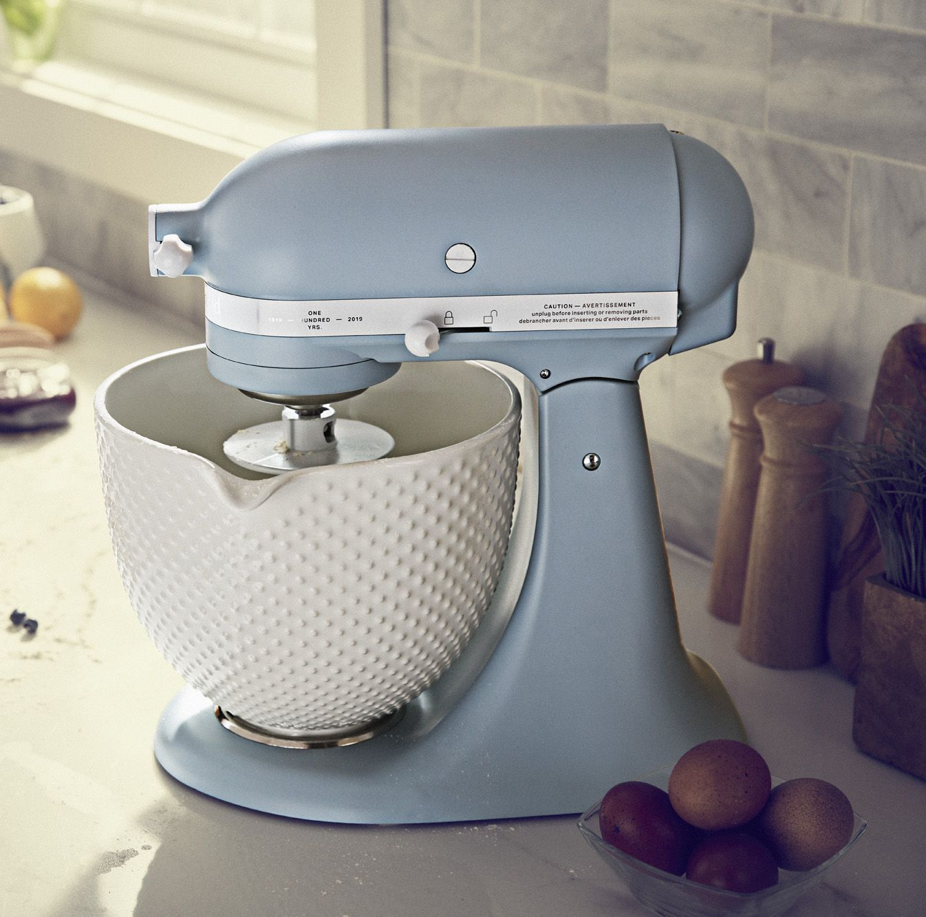 Misty blue stand mixer rustic kitchen kitchen aid mixer