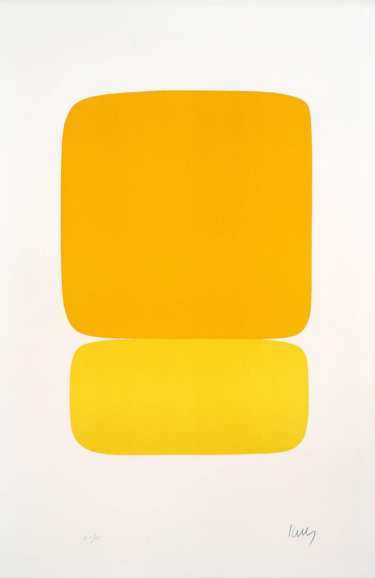 Ellsworth Kelly - Yellow over Yellow by Ellsworth Kelly   Ellsworth ...