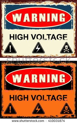 Warning High Voltage Sign Basement Ideas Signs High