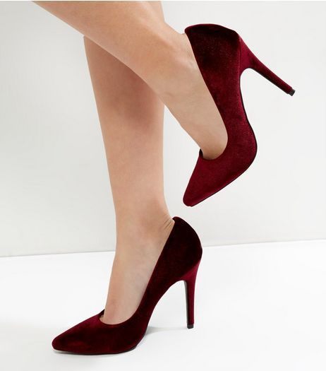Dark Red Shoes High Heels