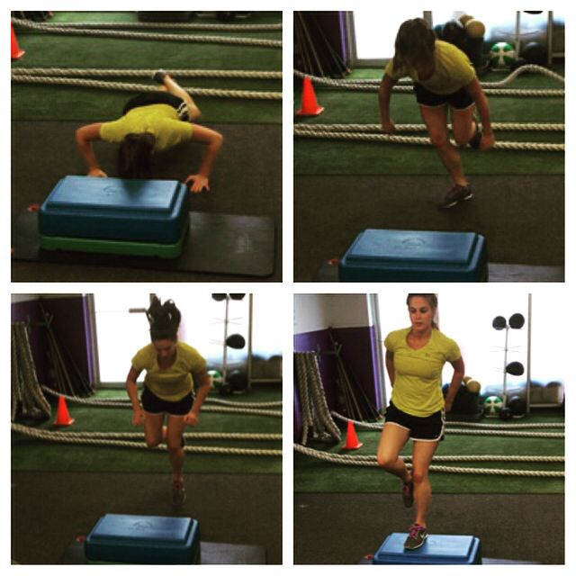One leg box jump ,into burpee! www.gravitytrainingzone.com #beastmode #liftlikeagirl #arms #bootcamp #bootie #cardio #core #diets #exercise #eattolose #fatloss #freehold #gymrat #healthylife #inittowinit #jacked #killinit #morganville #nodaysoff #noexcuses #organic #oldbridge #personaltrainer #painpainpain #summerslam #weightloss