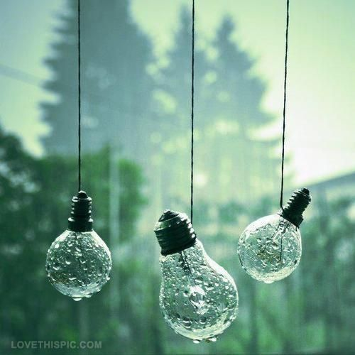 Wet Lightbulbs photography rain
