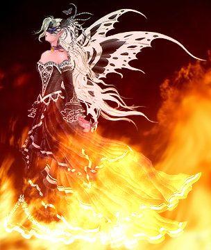 Fire Fairy Fantasy Art