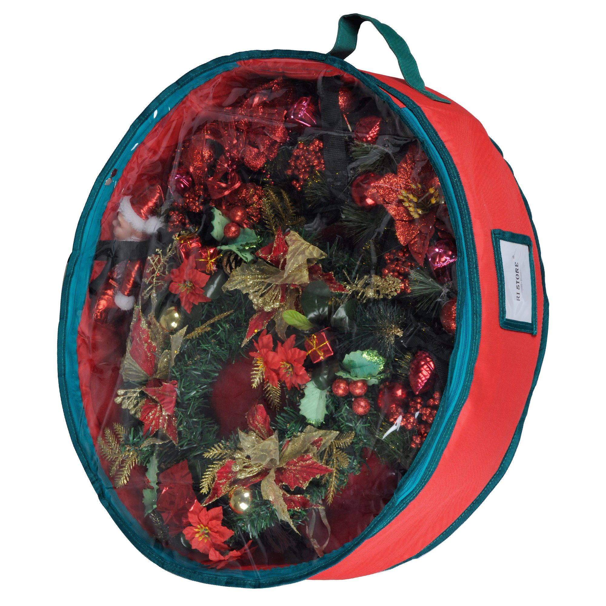 Wreath Storage Container Bag with Clear Lid KI Store 24 Inch