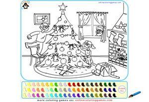 Играть в Игры для девочек новогодние раскраски онлайн ...