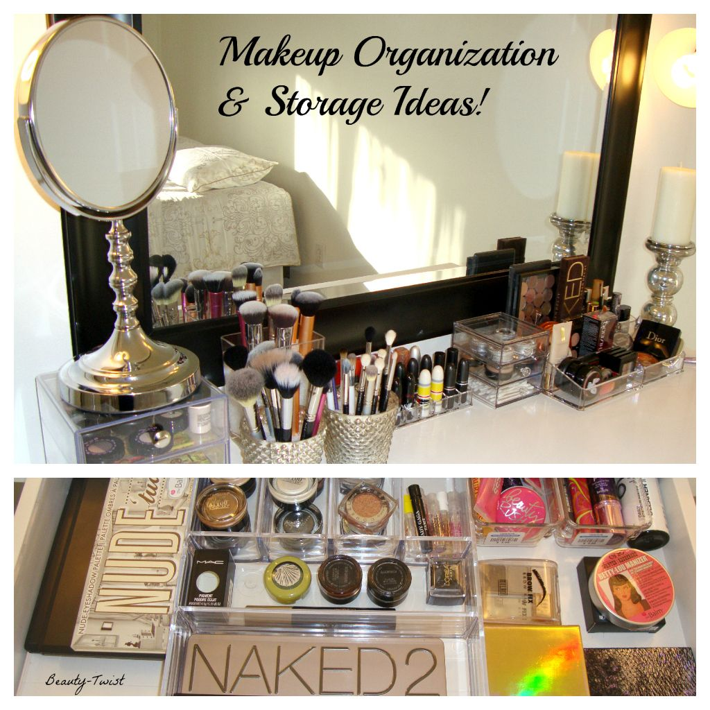 I need to figure out a way to organize all my samples and new make-up  products. My bathroom is a little cluttered.