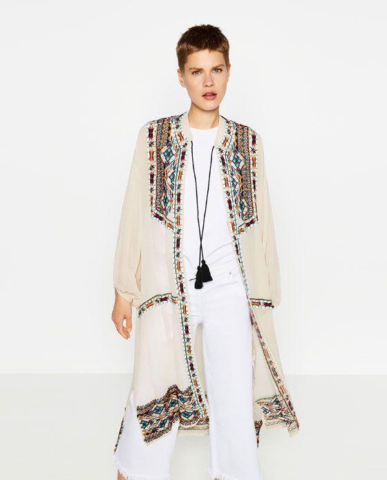 121f1ca0 Image 2 de KAFTAN BRODÉ À LA MAIN de Zara | Style ❣ | Outerwear ...