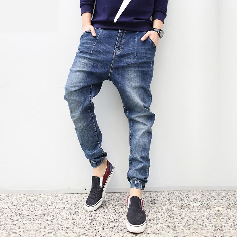 Fashion 2016 New Plus Size Harem jeans Men Taper Jeans Men Joggers ...