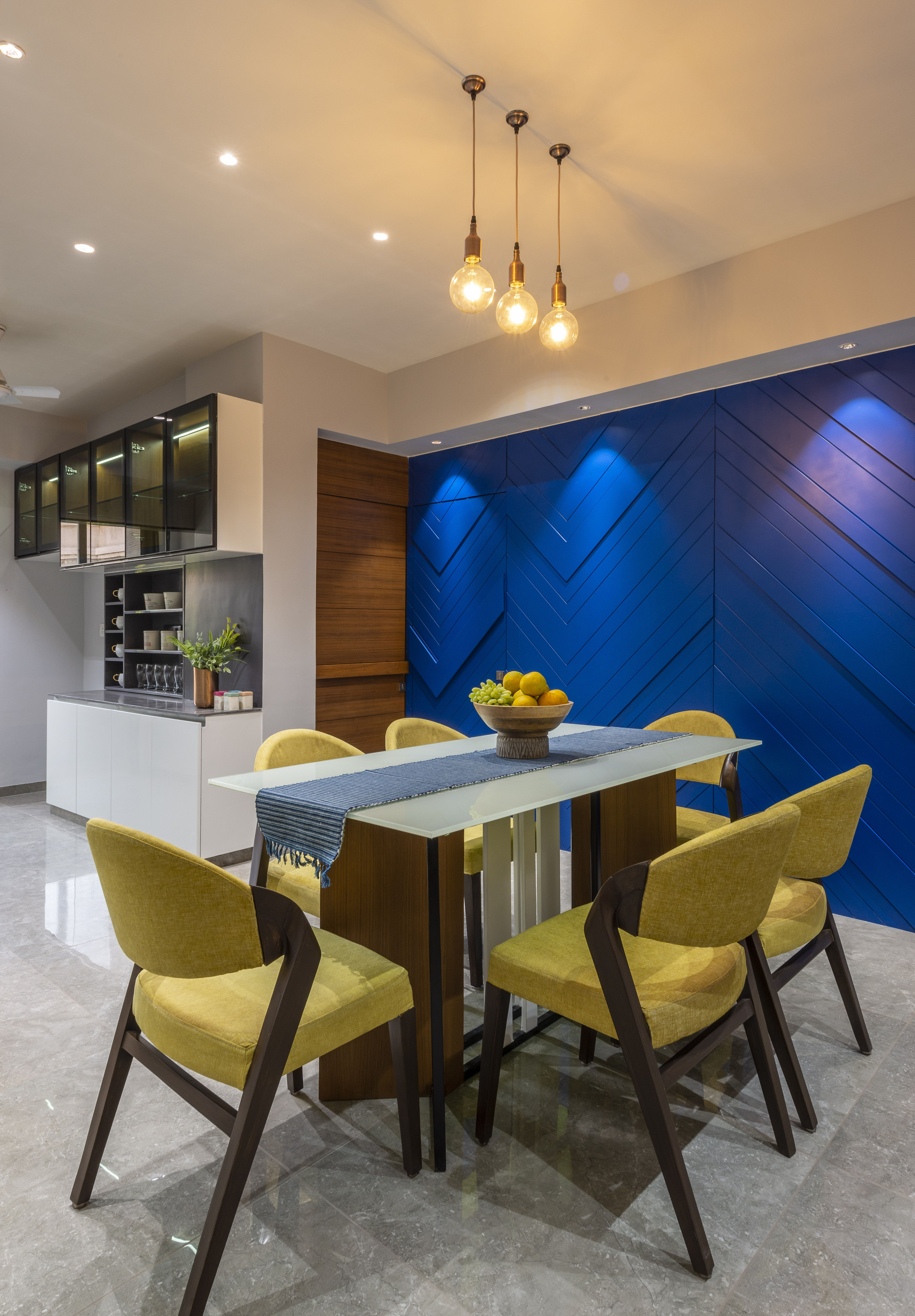 A 1 120 Sq Ft Ahmedabad Apartment With A Bold Blue