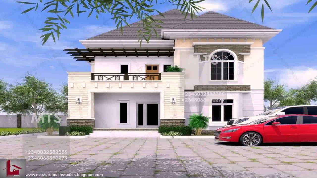5 Bedroom Duplex Design In Nigeria Duplex Design Duplex House Plans Duplex House