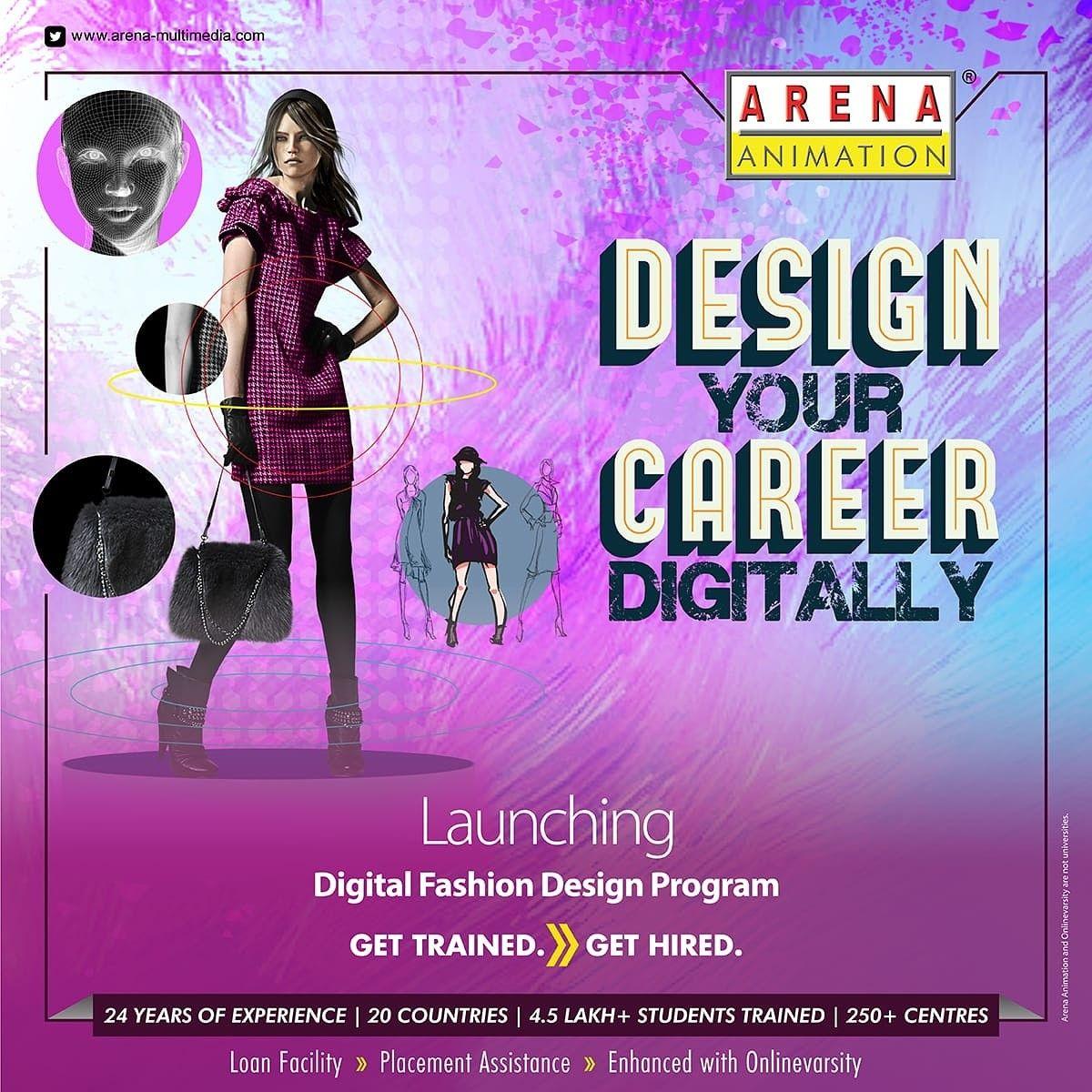 Computer Training For Animation In Patna In 2020 Digital Fashion Design Design Program Animation Design