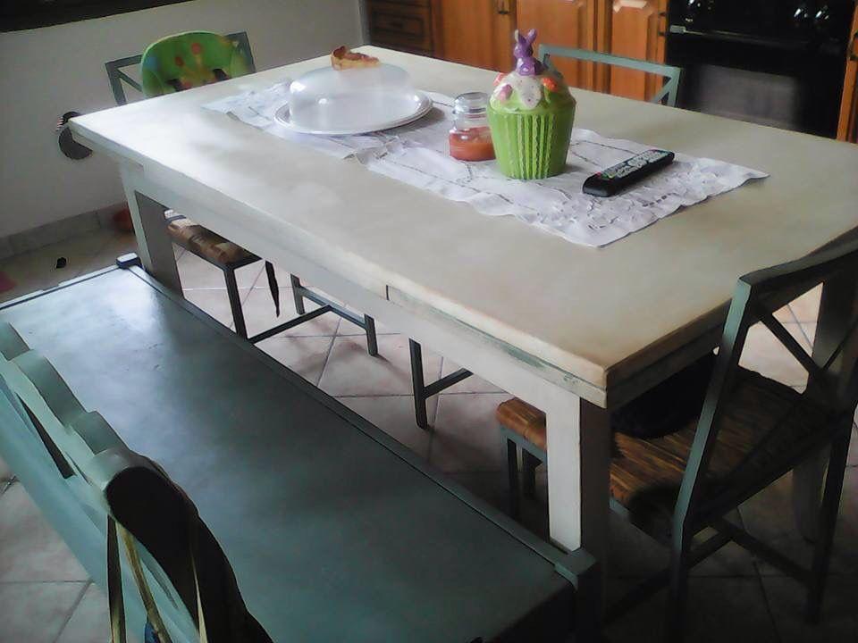 Tavolo angolare ~ Sedie e panca duck egg blue tavolo old white chalk paint annie