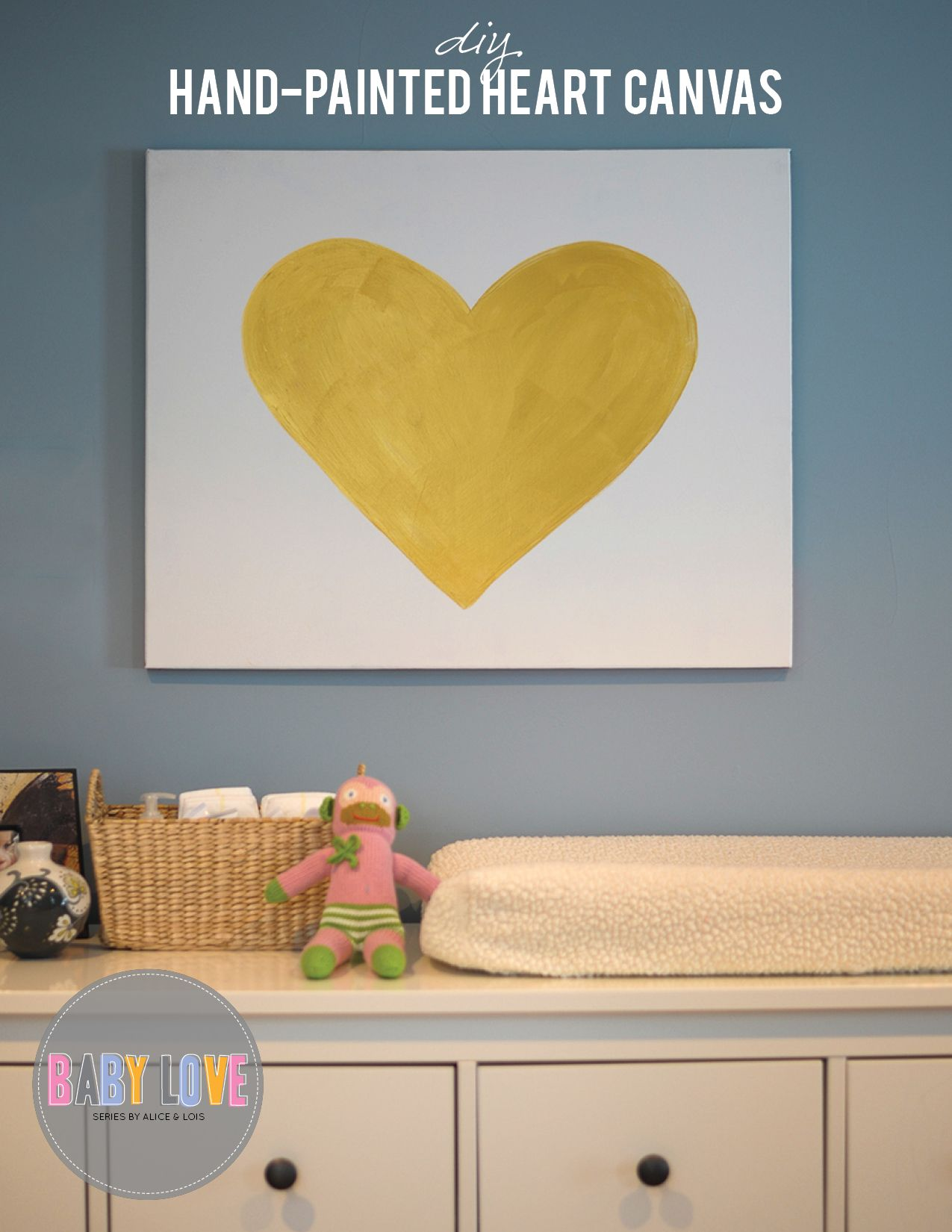 Diy Hand Painted Heart Canvas