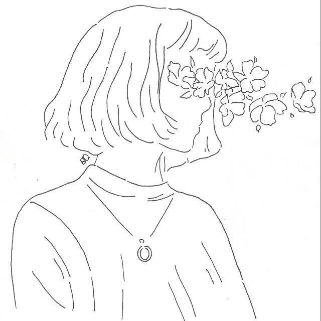 Evie Gellatlyy C Unknown Outline Art Outline Drawings Line Art Drawings