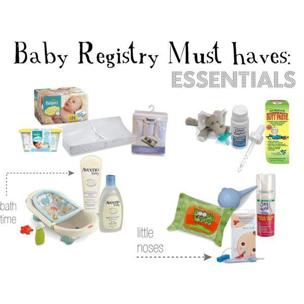 Baby registry essentials by smcdonald, via Polyvore Baby - baby registry checklists